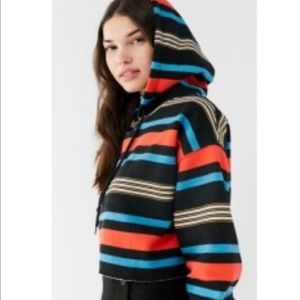 Urban Outfitters striped crop hoodie